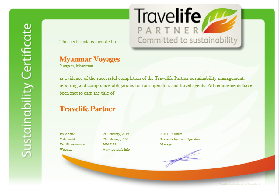 Travelife Certificate